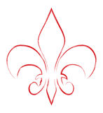 Fleur de lis. Abstract fleur de lis hand drawn Royalty Free Stock Photo