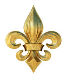 Fleur de lis. Illustration of a fleur de lis symbol in metal Royalty Free Stock Photo