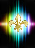 Fleur De Lis on Abstract Spectrum Background Royalty Free Stock Photos