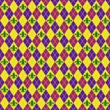 Fleur De Lis and Argyle Seamless Pattern stock photo