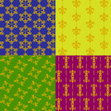 Fleur de lis patterns Stock Photos
