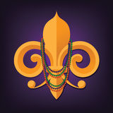 Fleur de lis with beads Stock Image