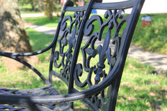 Fleur de lis bench. At the park in lafayette Royalty Free Stock Photos