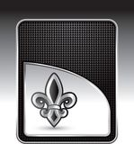 Fleur de lis on black checkered background Stock Images