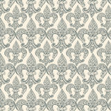 Fleur-de-lis black repeat seamless pattern Stock Photography