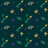 Fleur de lis carnival pattern Royalty Free Stock Photos