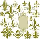 Fleur de lis Collection Stock Photos