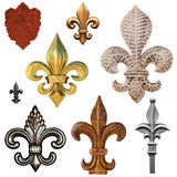 Fleur de Lis Collection Stock Photo