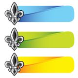 Fleur de lis on colored tabs Royalty Free Stock Photography