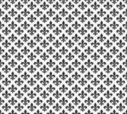 Fleur De Lis czarny i biały bezszwowy deseniowy tło ilustracja wektor