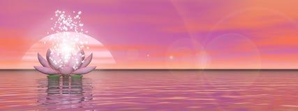 Fleur de lis de zen - 3D rendent Image stock