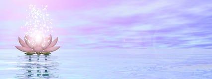 Fleur de lis de zen - 3D rendent Image libre de droits