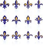 Fleur de lis design collection Stock Image