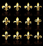 Fleur de lis design collection Stock Photos
