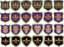 Fleur de lis emblems Stock Images