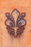 Fleur de Lis of Florence. The fleur de lis of Florence, local symbol of Florence, Italy Royalty Free Stock Image