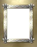 Fleur de lis frame Stock Photos