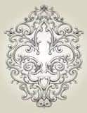 Fleur de Lis Frame stock illustration