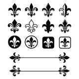 Fleur de lis - French symbol design, Scouting organizations, French heralry Stock Photography