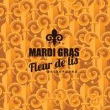 Fleur de lis gold background Stock Photo
