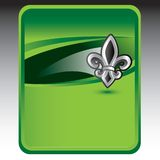 Fleur de lis on green background Royalty Free Stock Image