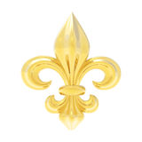 Fleur de lis isolated on white Royalty Free Stock Photos