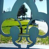 Fleur De Lis. In Lake Charles La stock photos