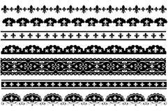 Fleur de lis langetterade vektorgränser Royaltyfri Illustrationer