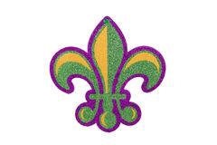 Fleur De Lis. A Mardi Gras fleur de lis decoration against a white background