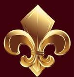 Fleur De Lis, New Orleans в золоте Стоковая Фотография