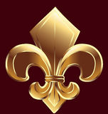 Fleur De Lis, New Orleans in gold Stock Photography
