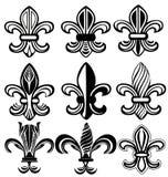 Fleur DE Lis New Orleans symbool Royalty-vrije Stock Afbeeldingen