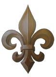 Fleur de Lis Painting de bronze imagem de stock royalty free