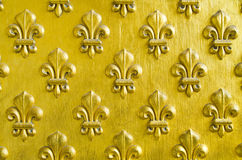 Fleur de Lis pattern. Painted gold royalty free stock images