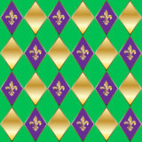 Mardi Gras Fleur de lis pattern Royalty Free Stock Photography