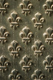 Fleur de Lis Pattern On Door stock photo