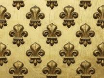 Fleur de Lis Pattern In Gold Fotos de archivo libres de regalías