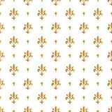 Fleur de lis pattern, silhouette - heraldic symbol. Vector Illustration. Medieval sign. Glowing french fleur de lis royal lily. El. Egant decoration symbol Stock Images