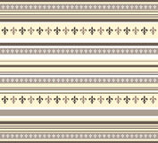 Fleur de lis pattern in yellow,white and brown Royalty Free Stock Image