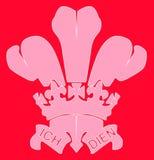 Fleur de Lis In Red ilustração royalty free