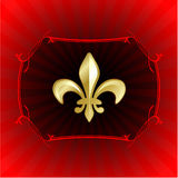 Fleur de lis on red internet background Royalty Free Stock Photos