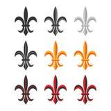 Fleur De Lis Royal Symbol Set. Vecteur Photo stock