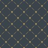 Fleur-de-lis seamless pattern background Stock Photos