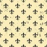 Fleur-de-lis seamless pattern. Ols style template. Floral classic texture. Fleur de lis royal lily retro background. Design vintag. E for card, wallpaper Royalty Free Stock Images