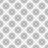 Fleur-de-lis seamless pattern. Vector illustration. Black white template. Floral texture. Elegant decoration, royal lily retro. Background. Design vintage for Royalty Free Stock Image