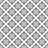 Fleur-de-lis seamless pattern. Vector illustration. Black white template. Floral texture. Elegant decoration, royal lily retro bac Stock Photography
