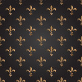 Fleur de lis seamless vector pattern. French Royalty Free Stock Image