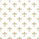 Fleur de lis seamless vector pattern. French Royalty Free Stock Image