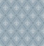Fleur-de-lis seamless wallpaper. Stock Photo