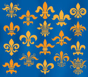 Fleur de lis set Stock Photo
